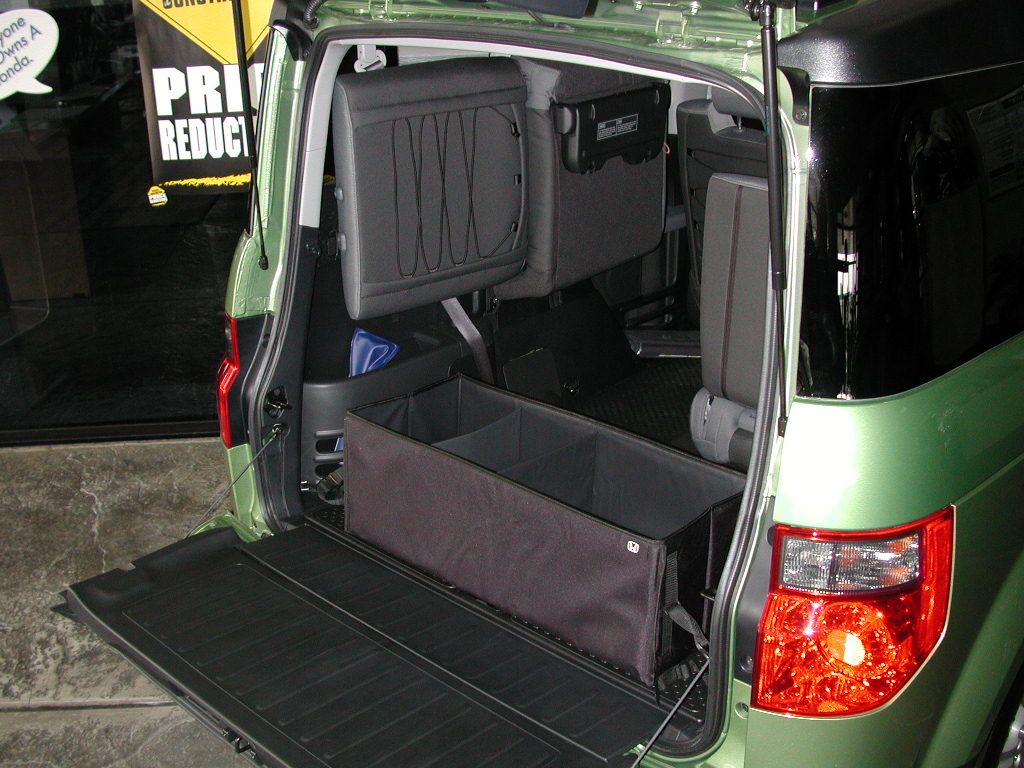 Cargo bin for Honda Element.