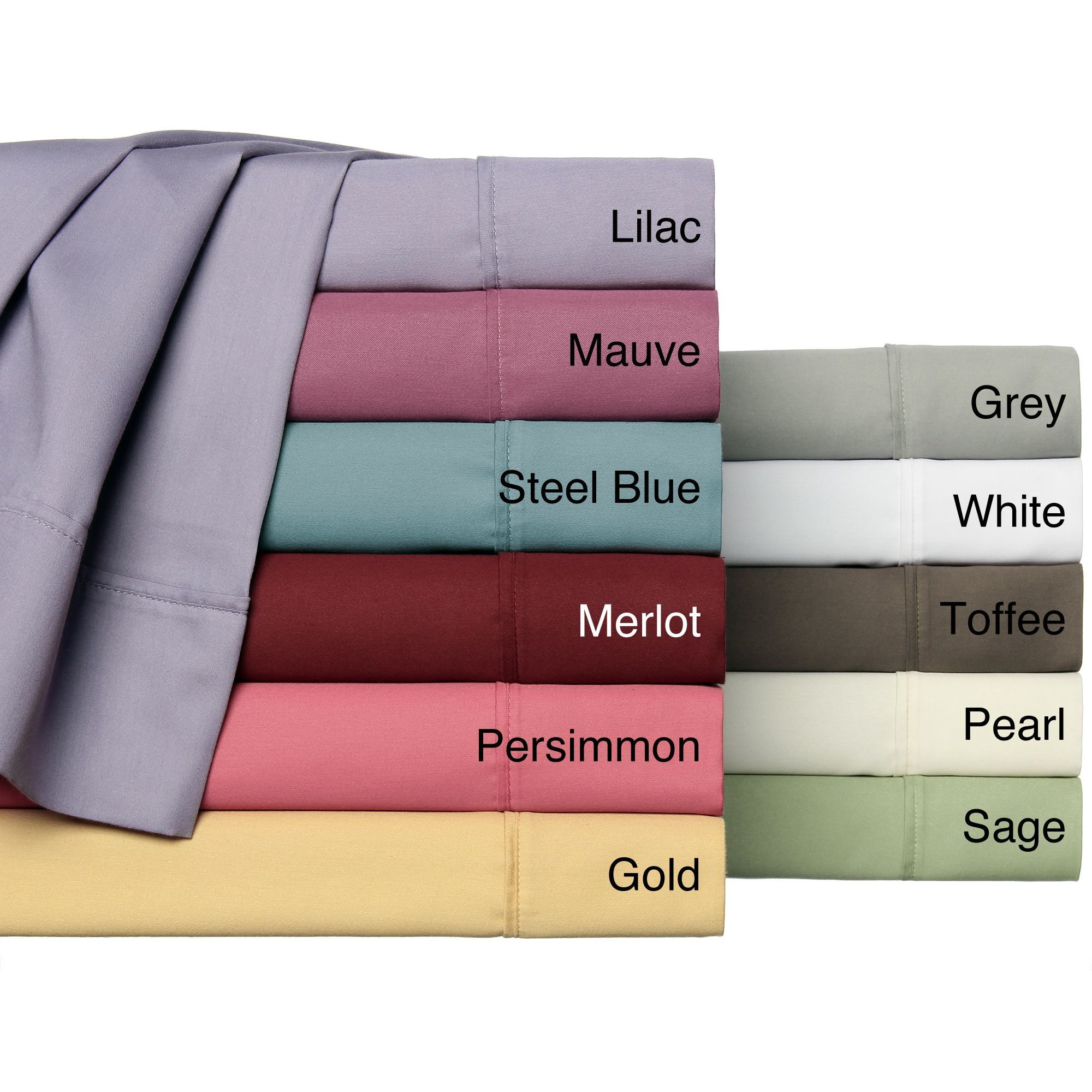 Easy care collection thread count cotton blend solid sheet set