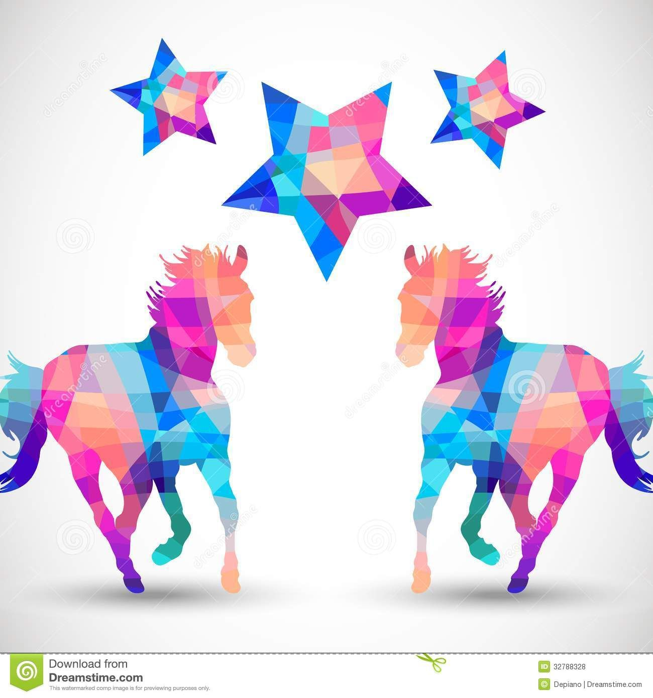 abstract-horse-geometric-shapes-star-file-eps-format-32788328.jpg (1300×1390)