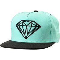 Diamond Supply Mint & Black Snapback Hat