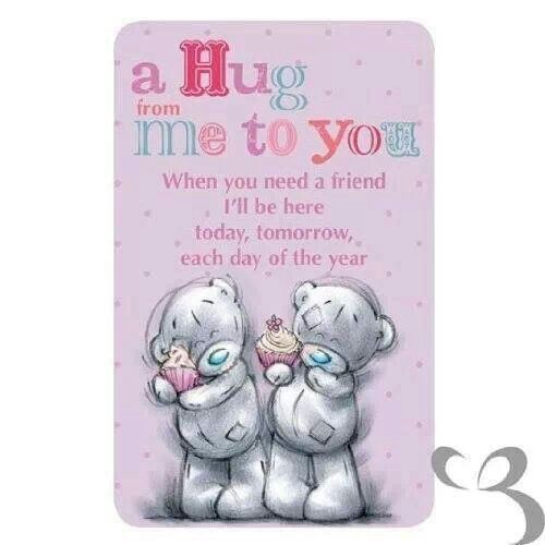 A Hug From Me To You Teddy Bear Quotes Hugs And Kisses