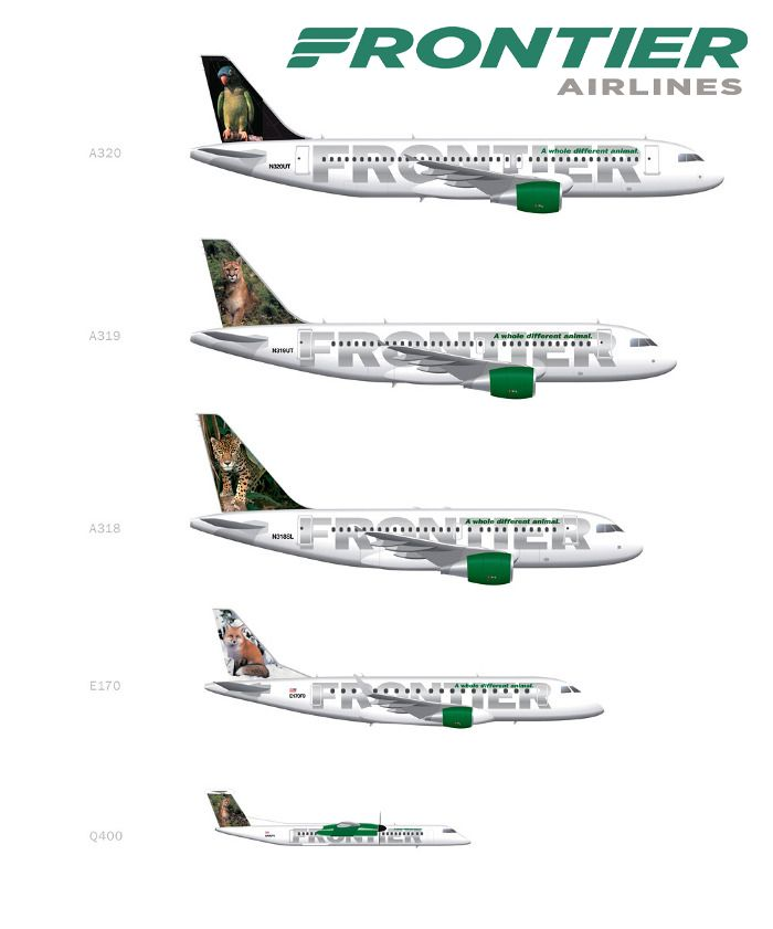 Frontier Airlines Fleet With Images Airline Logo Jet Airlines