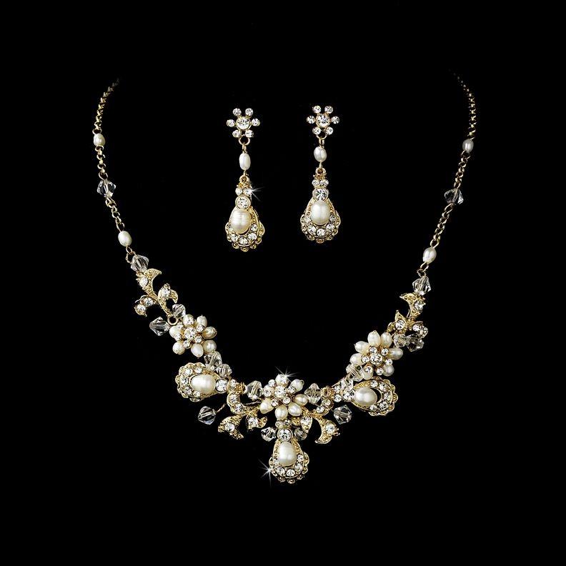 20++ Vintage pearl wedding jewelry sets information
