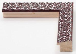 Cornice in legno su misura con fiori argento decorati