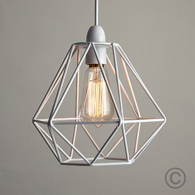 Picture 5 of 25 lamp pinterest diablo ceiling pendant and metals modern industrial style wire frame ceiling light shade in a white metal finish this contemporary shade is a quick and easy way to add edge and style to any keyboard keysfo Images