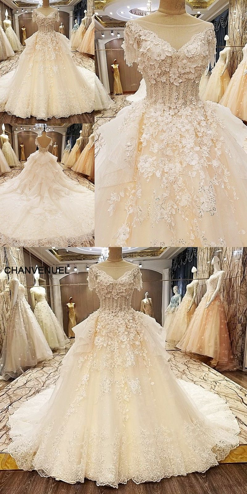 Ls unique wedding dresses beading ball gown lace up back high