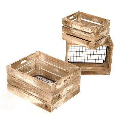 Distressed Cream Wooden Wall Crates, Set of 3 | Kirkland's