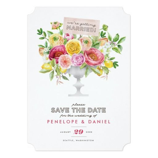Floral Watercolor Compote Save the Date