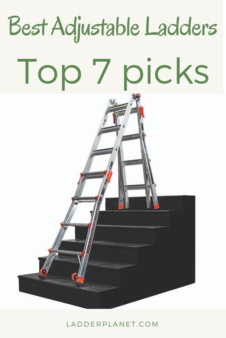 Adjustable Ladders Top 7 Picks Adjustable Ladder Ladder Stair Ladder