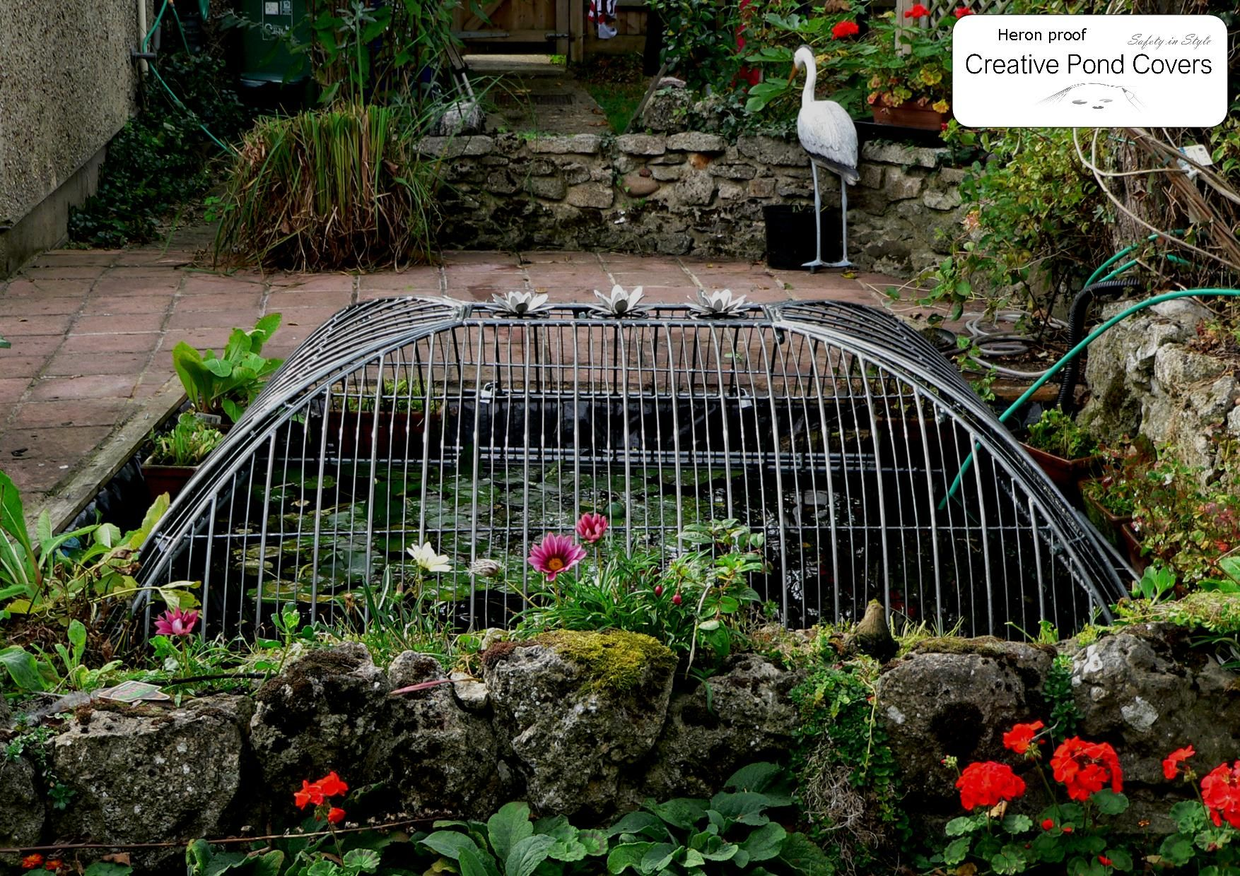 high dome pond covers for 100 protection from herons and