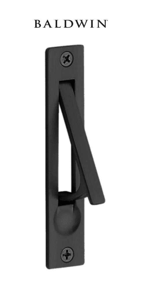Baldwin 0465190 Satin Black 3 4 Inch X 3 7 8 Inch Solid Brass Edge Pull In 2020 Pocket Doors Pocket Door Lock Pocket Door Pulls