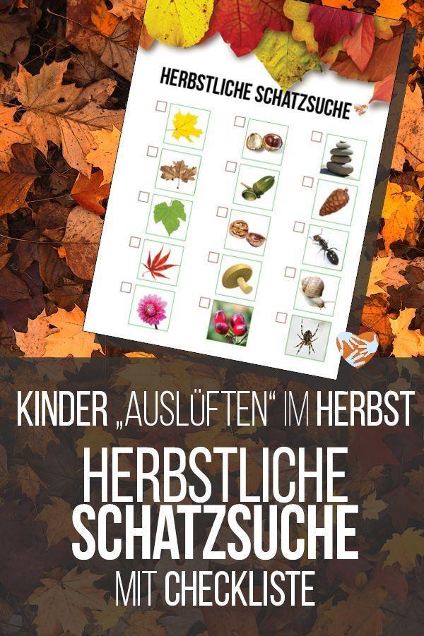 Kinder-Auslüften im Herbst: Herbstliche Schatzsuche mit Checkliste | Muttis Nähkästchen