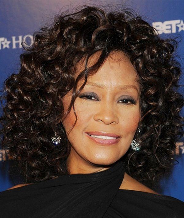 Whitney Houston Medium Hair Styles Medium Curly Hair Styles Short Hair Style Photos