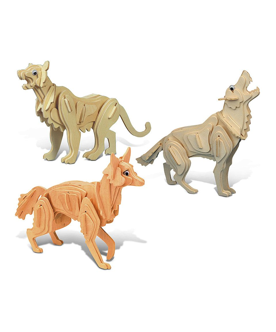 Another great find on #zulily! Wild Animals Collection 3-D Puzzle Set by Puzzled #zulilyfinds