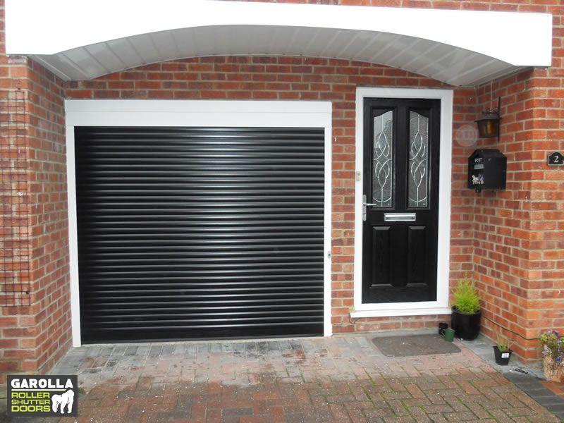 Black Roller Shutter Garage Door In 2020 Garage Doors Garage Door Design Garage Door Cost