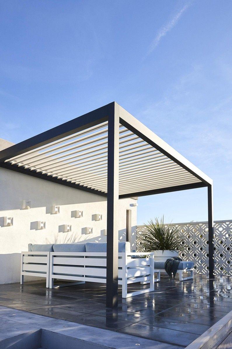Tonnelle Adossee Caleta Aluminium Gris Anthracite 12 M Leroy Merlin Pergola Bioclimatique Bioclimatique Pergola Terrasse