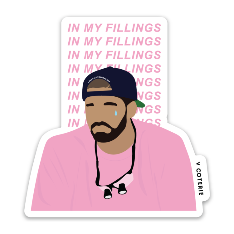 In My Fillings (Drake) Sticker Iphone stickers, Love