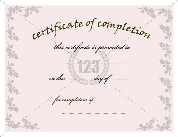 Most valuable Certificate of Completion Template for Free Download – Certificate of Completion Template Free