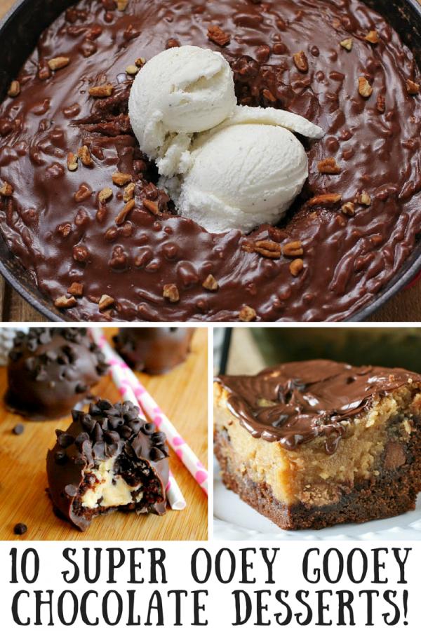 10 Ooey Gooey Chocolate Desserts