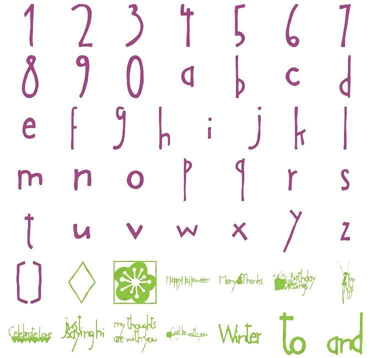 Cricut Cartridge Lyrical Letters by Cricut