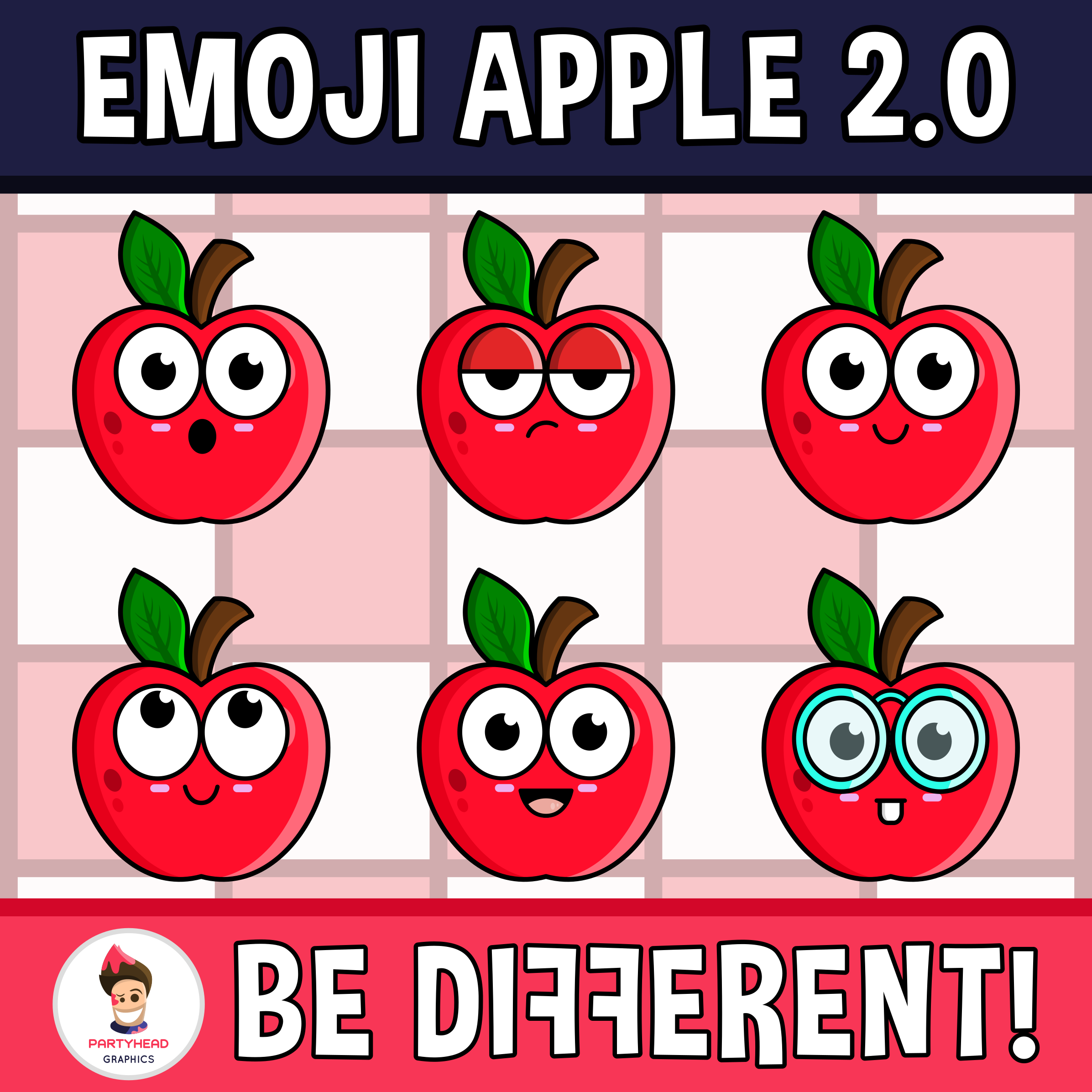 Emoji Apple Faces Clipart 2 0