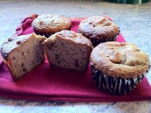grain free - almond poppyseed muffins
