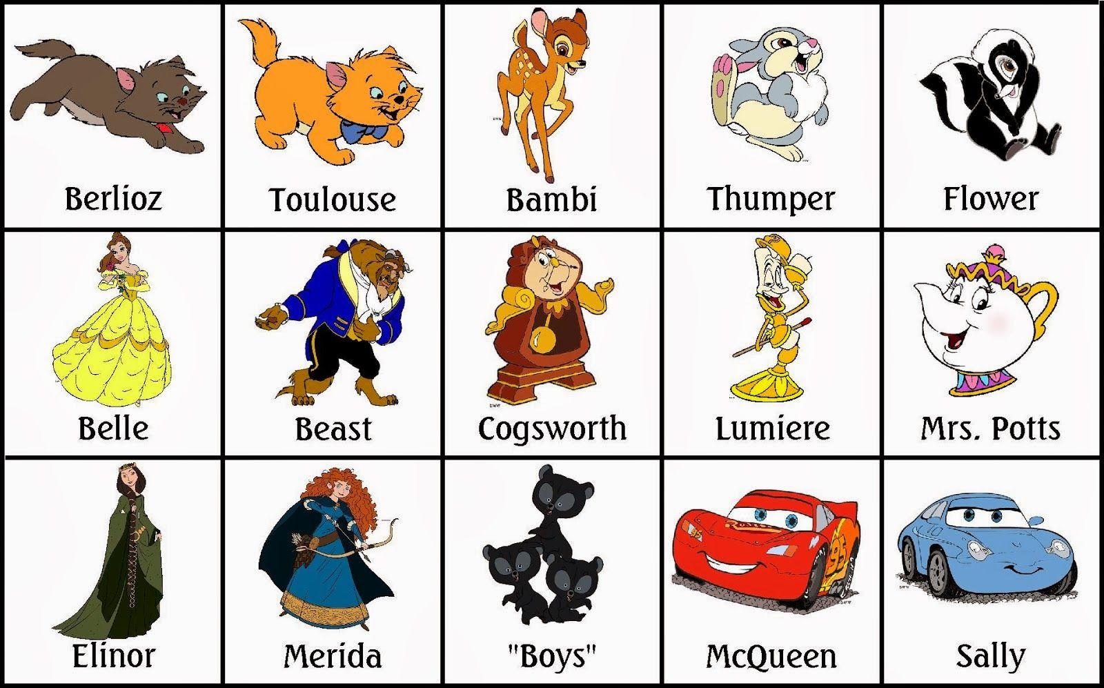Bingo de Personajes Disney, para Imprimir Gratis. | Paper Doll en ...