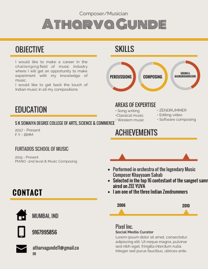 Music Industry Resume Click On The Image To View The High Definition Versioncreate .