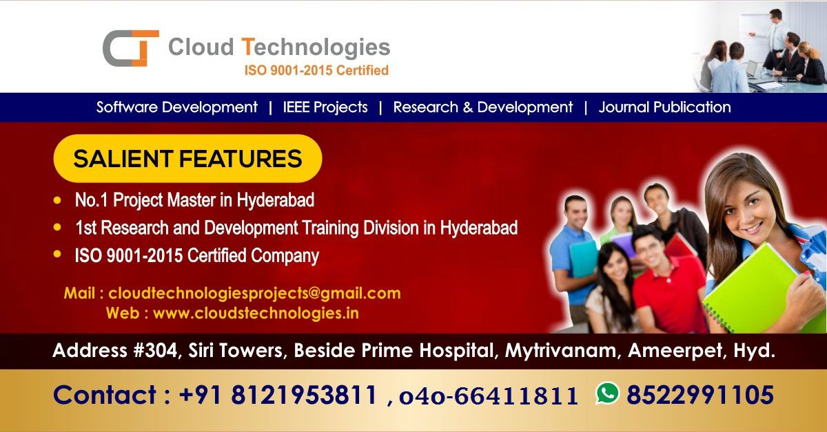 Cloud Technologies Offer Real Time Ieee Projects For M Tech B Tech Be Me Mca And Bca Students In 2020 Web Development Design Digital Marketing Services Technology