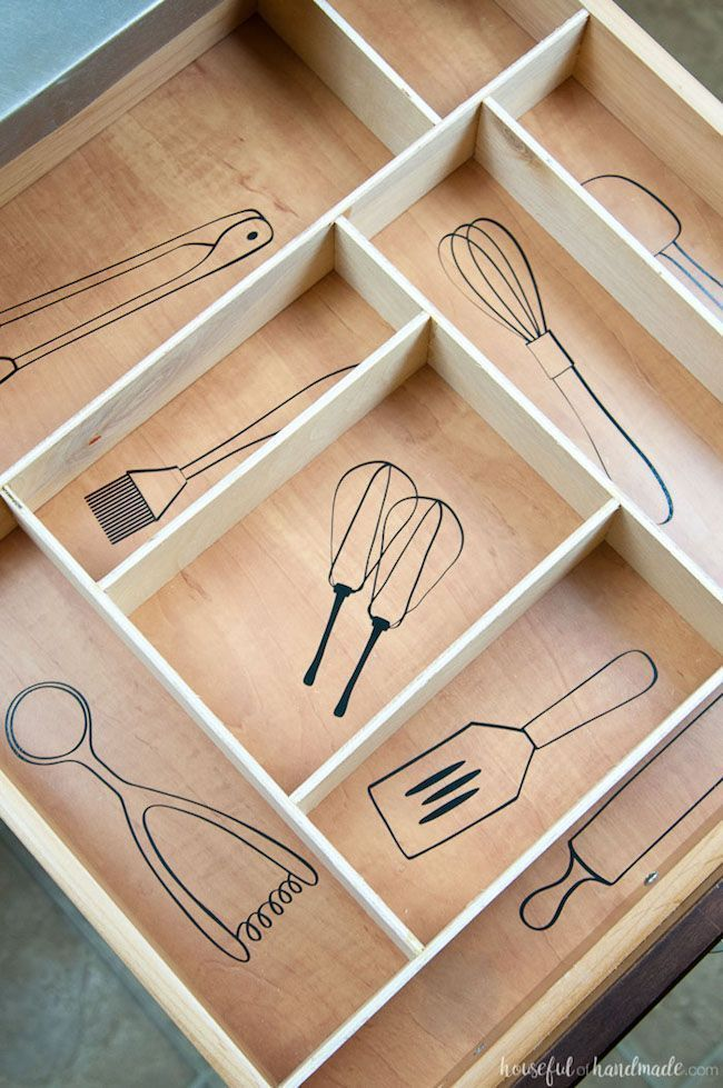 Kitchen Utensil Drawings  Kitchen Drawer Organization   Kök Ideer Kitchen Utensil Drawings  Kitchen Drawer Organization   Kök IdeerHouse home decor house projec...