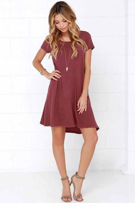 30++ Burgundy swing dress information