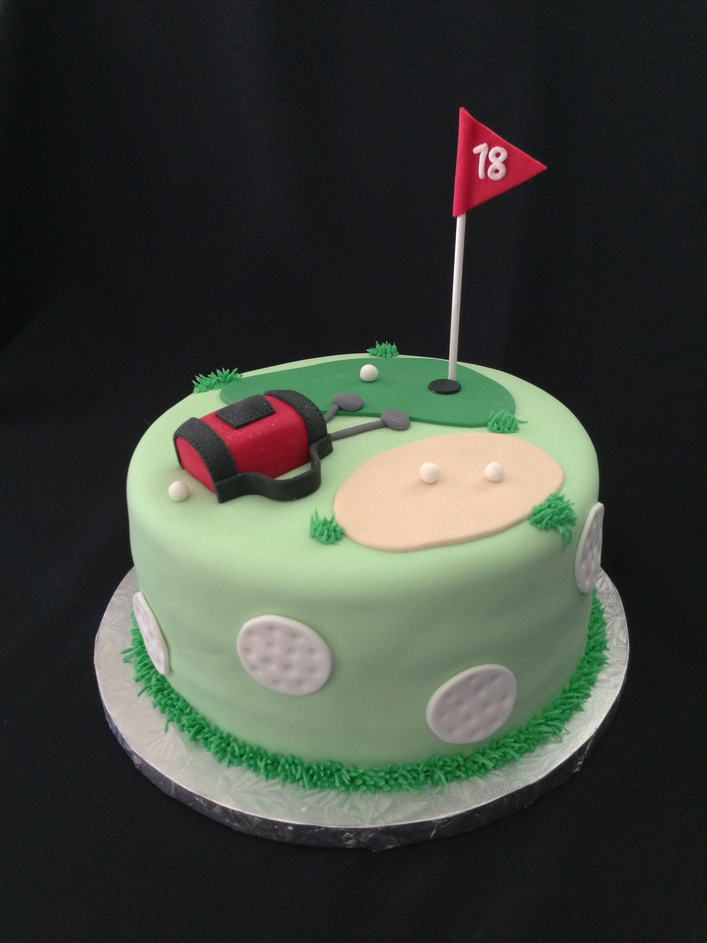 Images Of Birthday Cakes With David Golfing