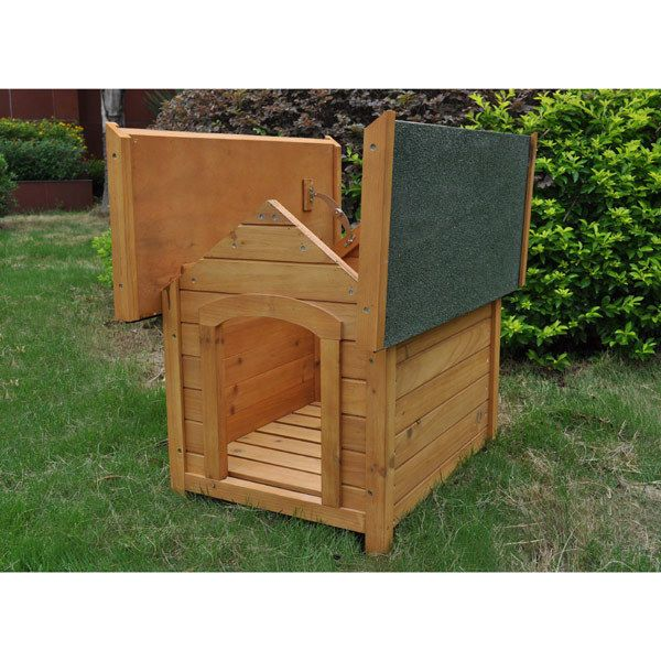 Petplanet Outdoor Dog Kennel House Small Wooden Apex With Opening Roof Wooden Dog Kennels Dog Kennel Cat Kennel