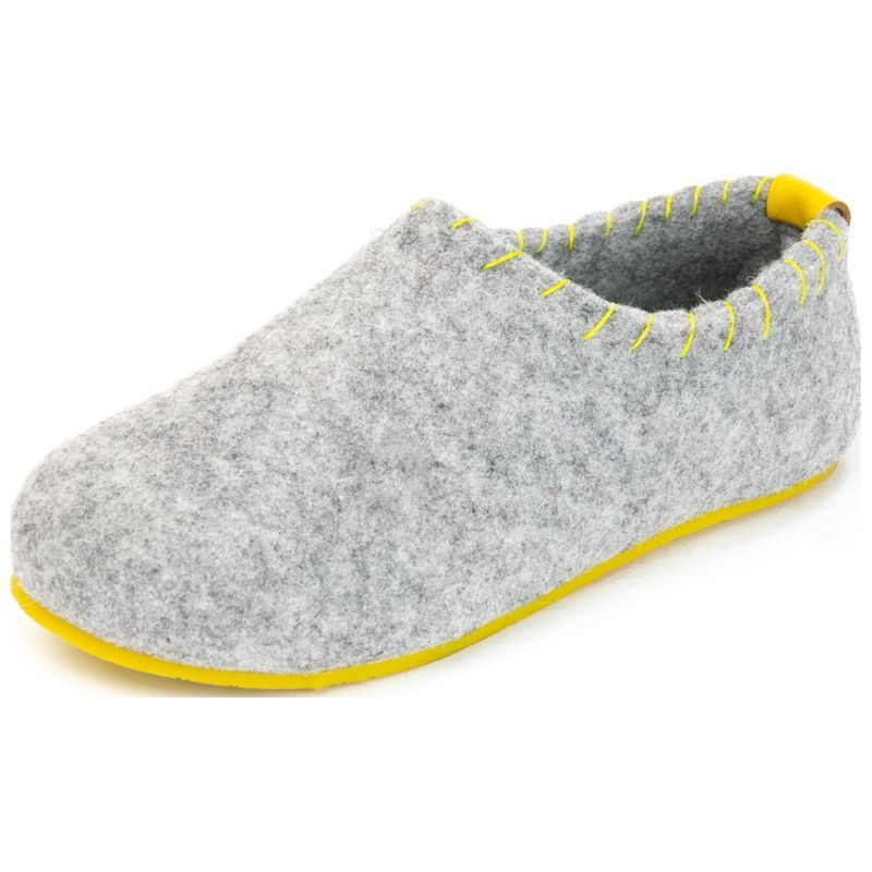74b517f0f2d COMFORTFUSSE Womens Yew Slippers (Grey Yellow)