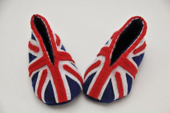 British Flag Baby Booties 03 months by coolarific on Etsy, $19.00