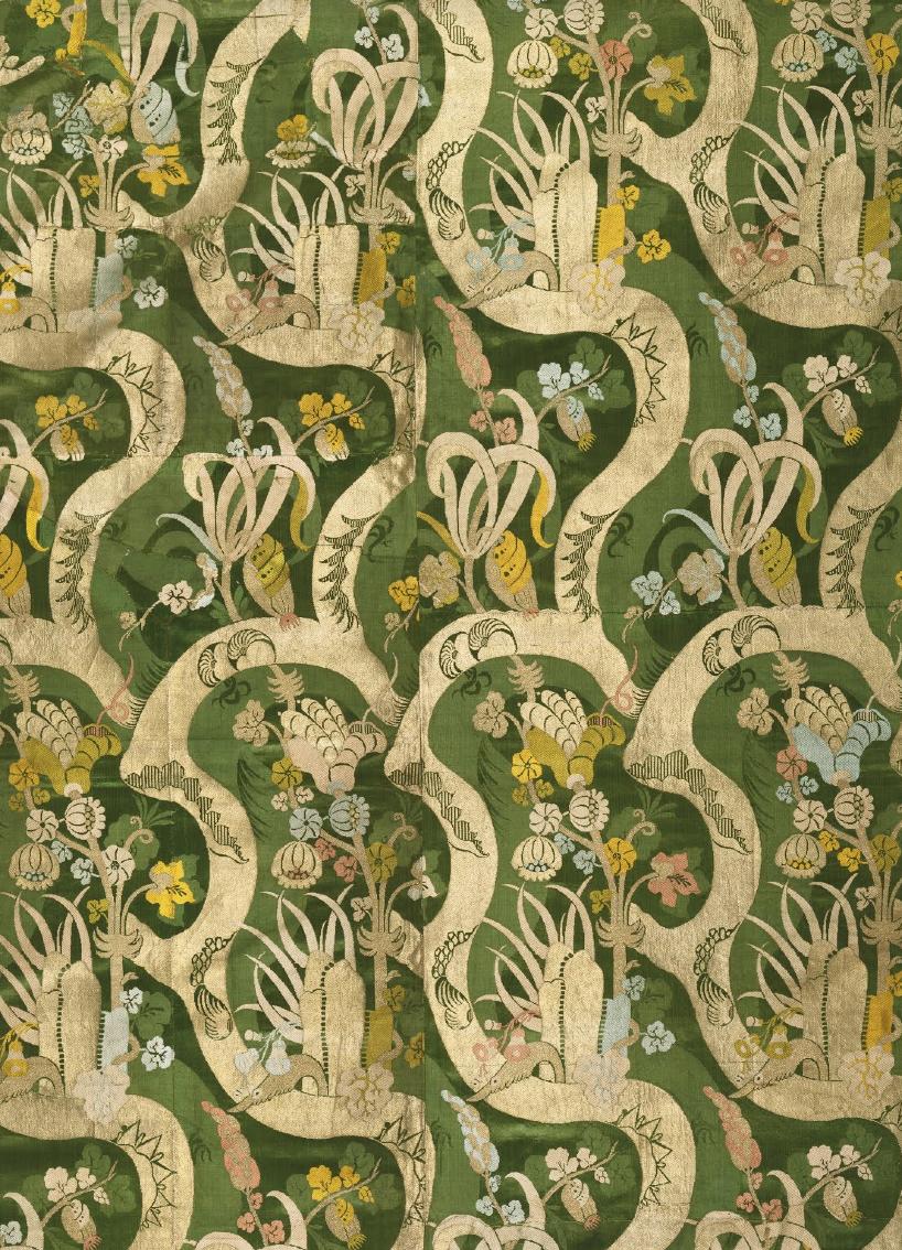 Woven Textile Silk With Bizarre Designc 1700 1705