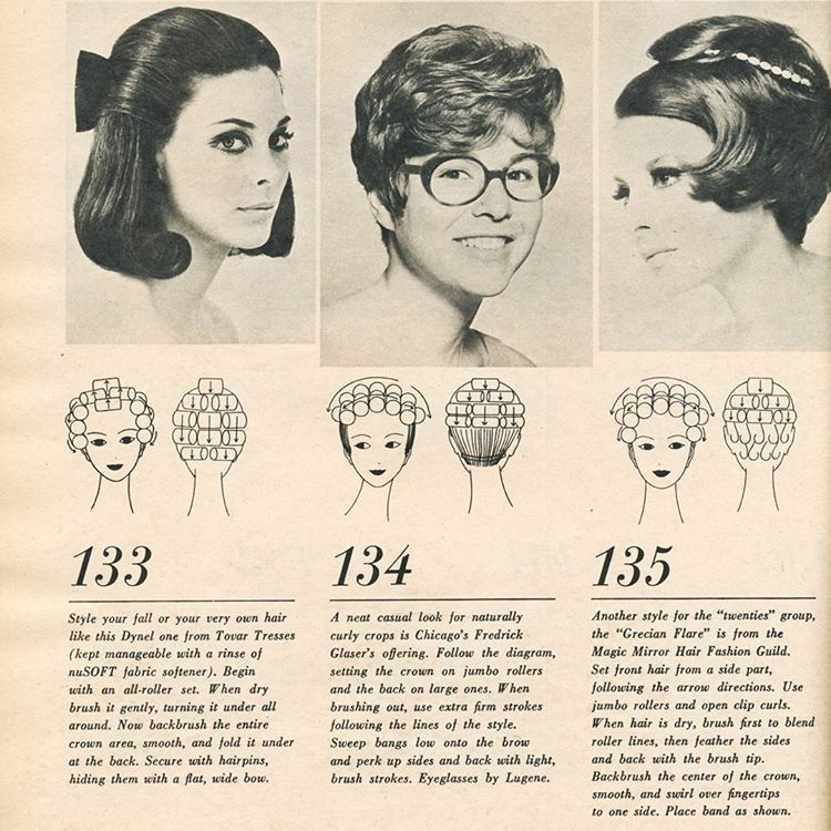 Vintage Hairstyle With Roller Setting Pattern Love The First Style Fascinating Roller Set Patterns