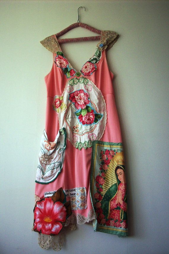 bohemian love summer dress ocean dreaming pretty by lucyvnz Love the Virgin Of Guadalupe pocket