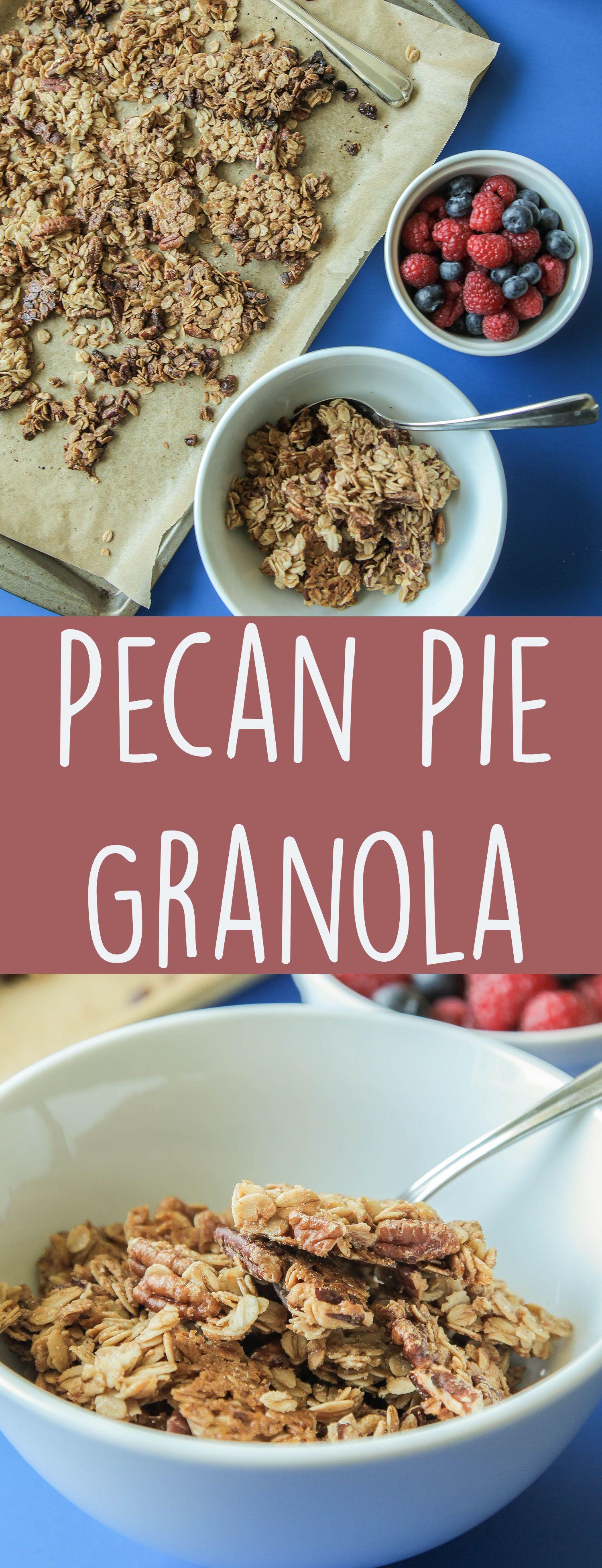Pecan Pie Granola (Vegan + Gluten Free) | Recipe | Granola ...