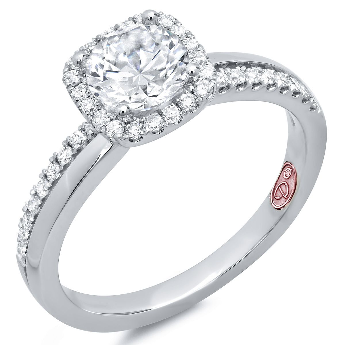 Designer Engagement Rings from DemarcoJewelry.com  Available in White Gold 18KT and Platinum.0.25 RD Capture her grace and endless beauty with this confident yet elegant design. We have also incorporated a unique pink diamond with every single one of our rings, symbolizing that hidden, unspoken emotion and feeling one carries in their heart about their significant other.   This is not just another ring, this is a heirloom piece of jewelry.