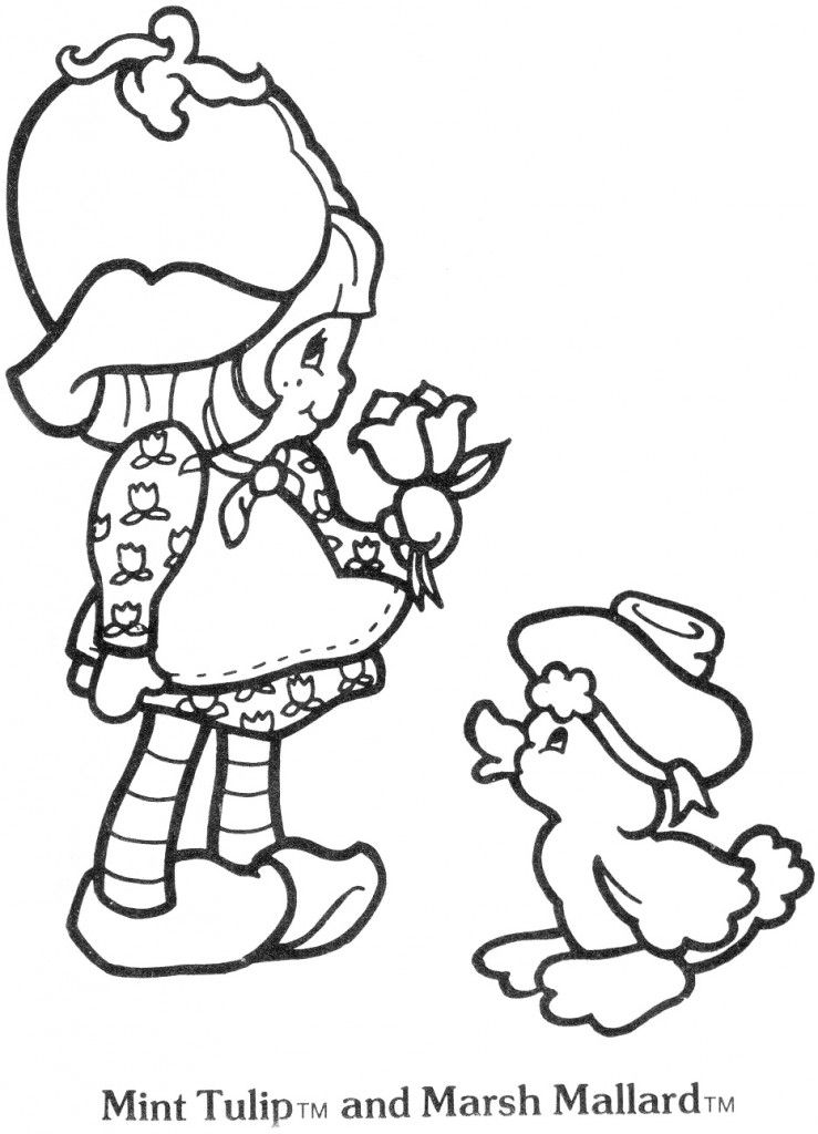 Original Strawberry Shortcake coloring page. | Coloring pages ...