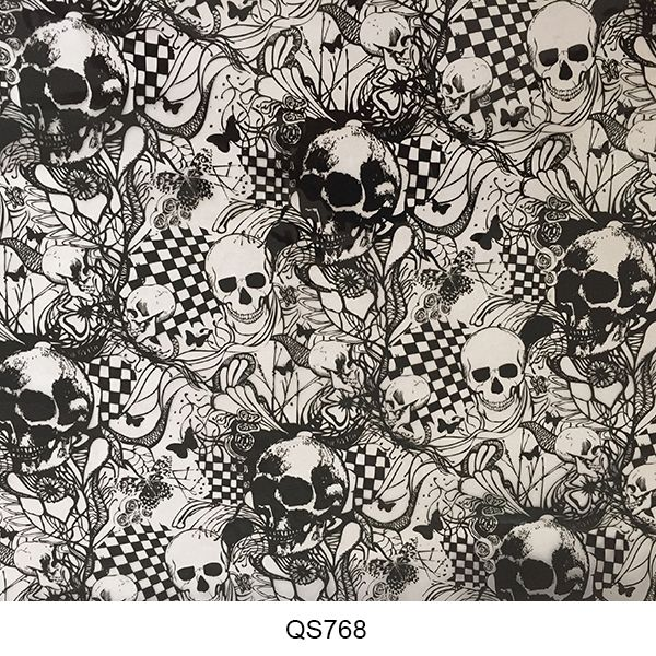 Hydrographics film skull pattern QS768