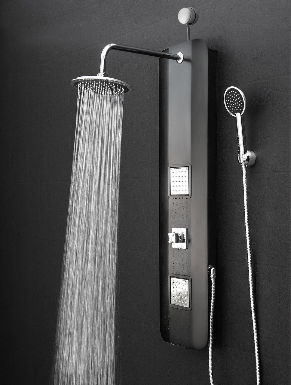 Features Shower Panel System Comes With A Easy Connect Adapter Rainfall Heads