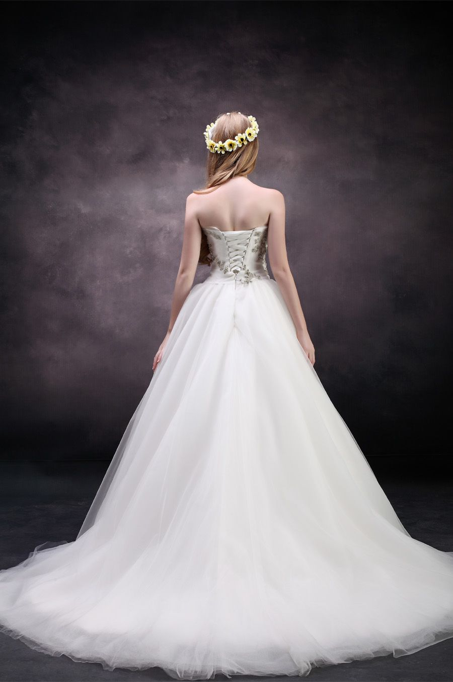 Fancy Strapless natural waist tulle wedding dress with chapel train,Style No.0bg02463,US$287.00   Read More:    http://www.weddingspnina.com/index.php?r=fancy-strapless-natural-waist-tulle-wedding-dress-with-chapel-train.html