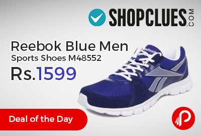 a2975f66968b38 Shopclues  DealoftheDay is offering Reebok Blue Men Sports Shoes M48552  Just Rs.1599.