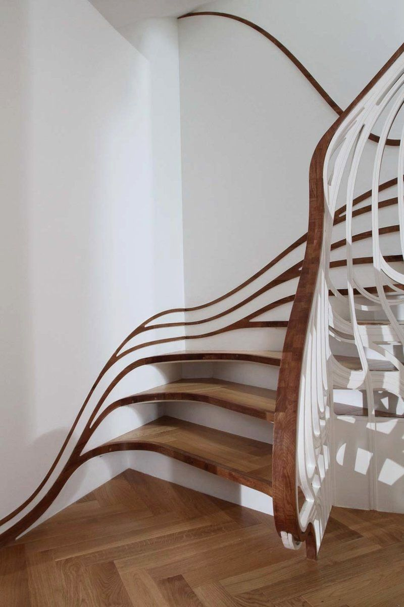 love this staircase, modern organic feel, natural timbers  omg...