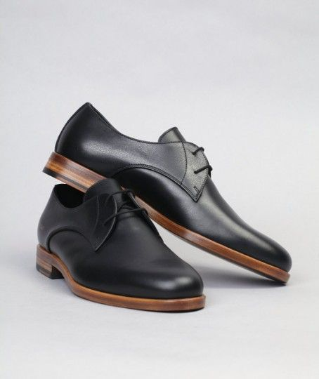 COMMON PROJECTS    BLACK OFFICER S DERBY SHOES  3f3e34260