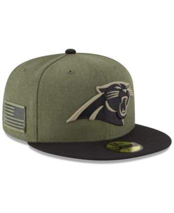 7354bcf5ad7a0 New Era Carolina Panthers Salute To Service 59FIFTY Fitted Cap - Green 6 7 8