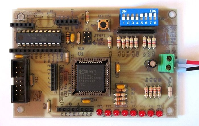 experimenting with cpld using diy xilinx cpld board cpld rh pinterest co uk