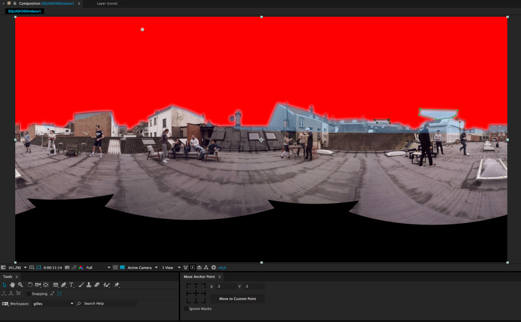 How to combine 360 degree video - Background colour + Stitching